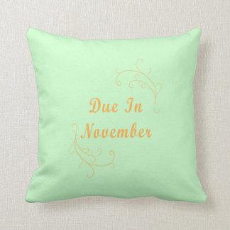 Due In November Birthstone American MoJo Pillow Cushion