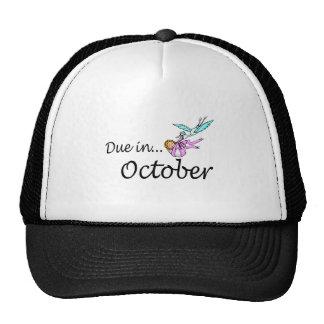 Due In October (Baby/Stork) Trucker Hat