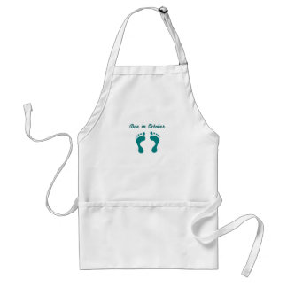 DUE IN October BLUE BABY FEET.png Standard Apron