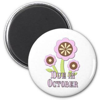 Due in October Expectant Mother Fridge Magnet