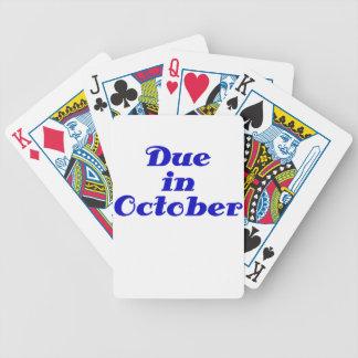 Due in October Poker Deck