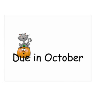 Due In October Postcard