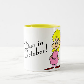 Due In October Two-Tone Mug