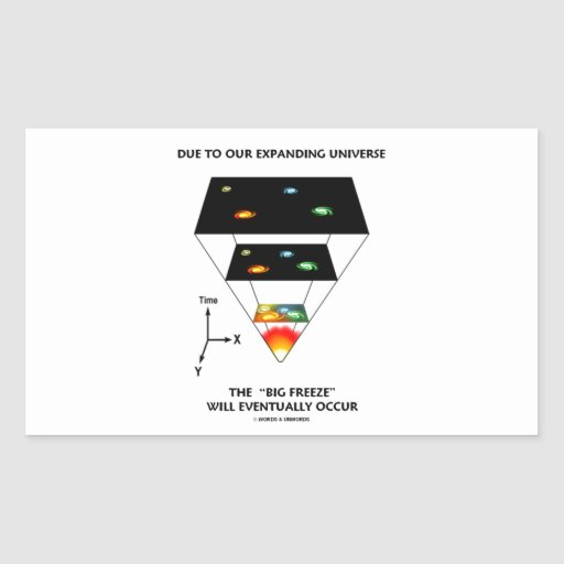 Due To Our Expanding Universe Big Freeze Occur Rectangle Sticker