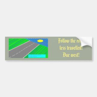 Due west! bumper sticker