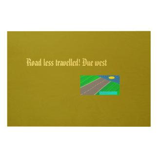 due west wood print