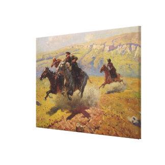 Duel, 1905 canvas print