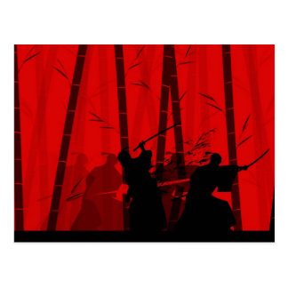 Duel in the Red Bamboo - Samurai Postcard