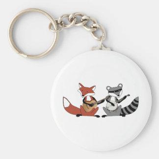 Dueling Banjos Basic Round Button Key Ring