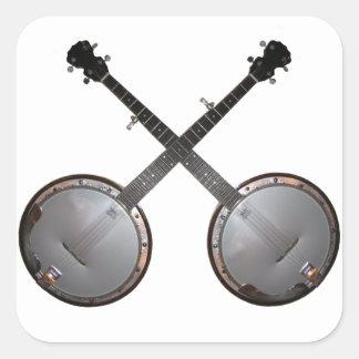 Dueling Banjos Square Sticker