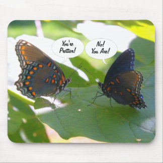 Dueling BFFs (Butterfly Friends Forever) Mouse Mat