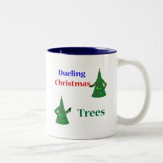 Dueling Christmas Trees Mug