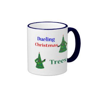 Dueling Christmas Trees Coffee Mugs