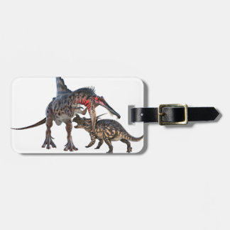 Dueling Dinosaurs Luggage Tag