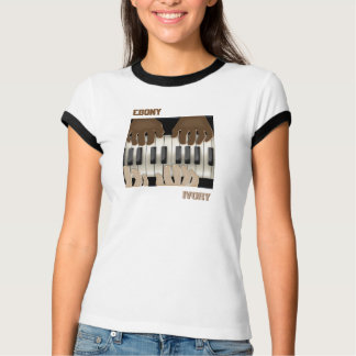 Dueling Keyboards - Ebony & Ivory T-Shirt