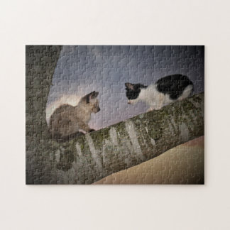 Dueling Kittens Jigsaw Puzzle