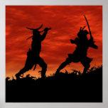 Duelling Samurai Print