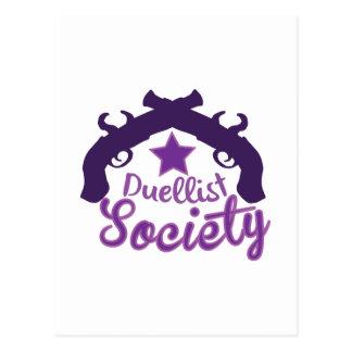 Duellist Society Postcard