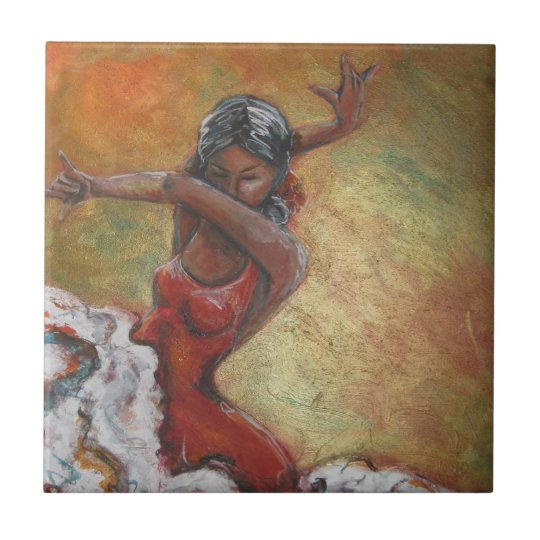 Duende Flamenco Dancer Ceramic Tile