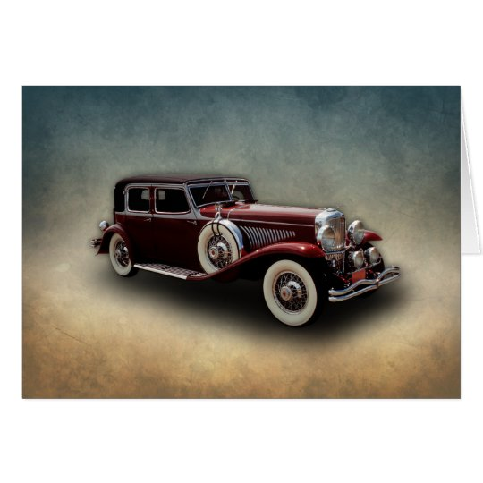 Duesenberg (Duesy) Model J Classic Car Card