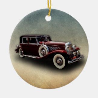 Duesenberg (Duesy) Model J Classic Car Christmas Ornament