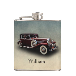 Duesenberg (Duesy) Model J Classic Car II Hip Flask