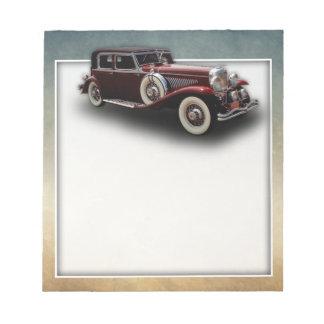 Duesenberg (Duesy) Model J Classic Car Notepad