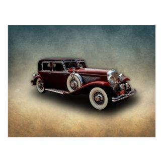 Duesenberg (Duesy) Model J Classic Car Postcard
