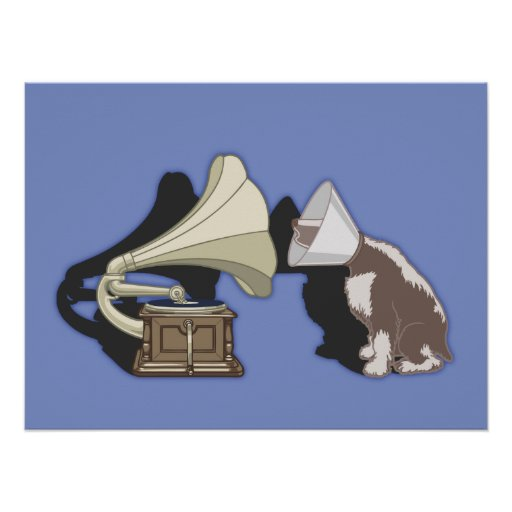 Duet - Dog & Gramophone Posters