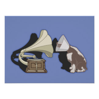 Duet - Dog Gramophone Posters