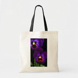 Duet of purple pansies, Washington State Tote Bag