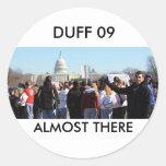 DUFF 09 ROUND STICKERS