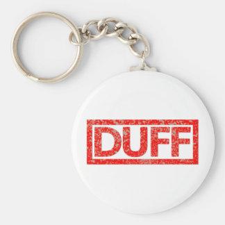 Duff Stamp Basic Round Button Key Ring