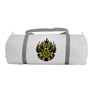 Duffel gym bag of traditional pattern gym duffel bag