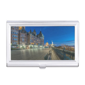 Dufferin Terrace at dawn Business Card Holder
