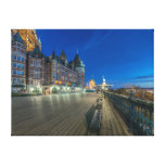 Dufferin Terrace at dawn Stretched Canvas Print