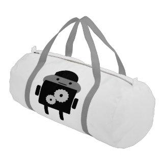 Duffle Gym Bag White With Silver Straps Gym Duffel Bag
