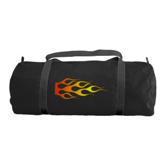 Duffle Gym Bag with Flames Gym Duffel Bag