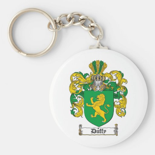 DUFFY FAMILY CREST -  DUFFY COAT OF ARMS KEY CHAIN