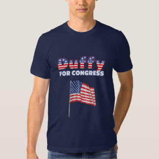 Duffy for Congress Patriotic American Flag T Shirts