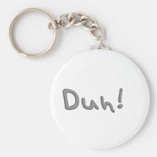 Duh Basic Round Button Key Ring