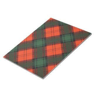 Duilach clan Plaid Scottish kilt tartan Notepad