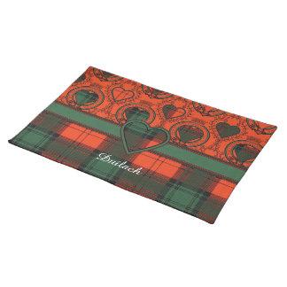 Duilach clan Plaid Scottish kilt tartan Placemat
