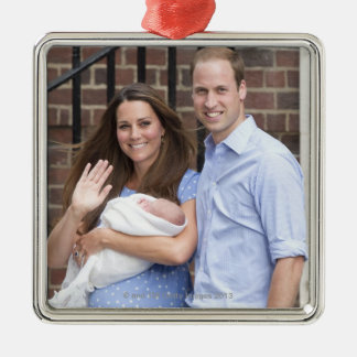 Duke & Duchess Of Cambridge at Lindo Wing Christmas Ornament