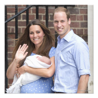 Duke Duchess Of Cambridge at Lindo Wing Personalized Announcement