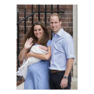 Duke & Duchess Of Cambridge at Lindo Wing Poster