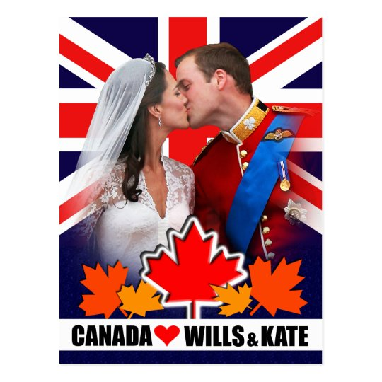 Duke & Duchess of Cambridge Canada Postcard