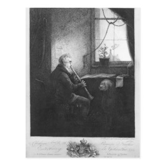 Duke Esterhazy Playing the Clarinet, 1809 Postcard