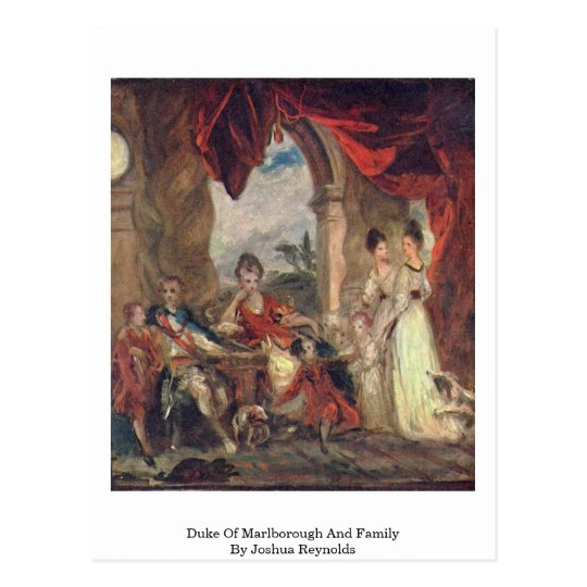 Duke Of Marlborough And Family By Joshua Reynolds Postcard