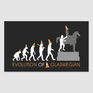 Duke of Wellington's Glasgow Traffic Cone Hat Rectangular Sticker